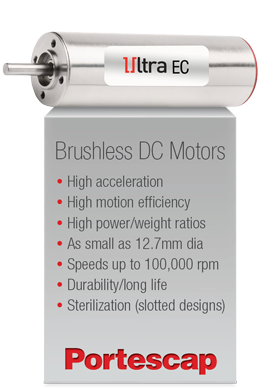 Portescap's Brushless DC Motors