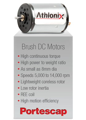Portescap's Brush DC Motors