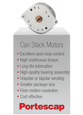 Portescap's Can Stack Motors