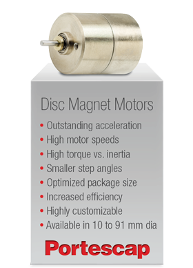 Portescap's Disc Magnet Motors