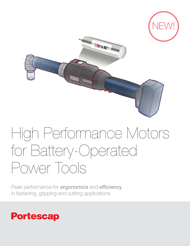 Motors for Battery-Operated Power Tools Brochure
