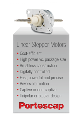 Portescap's Linear Stepper Motors